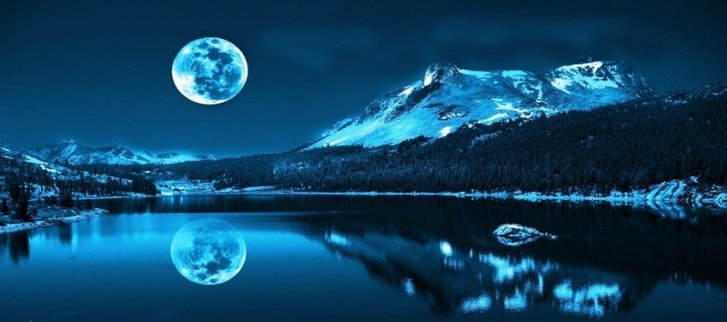 mountains blue moon
